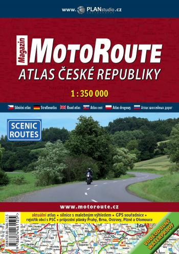 Atlas R s vyznaenm atraktivnch cest pro motorke